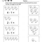 Printable Subtraction Worksheet   Free Kindergarten Math Worksheet   Free Printable Subtraction Worksheets
