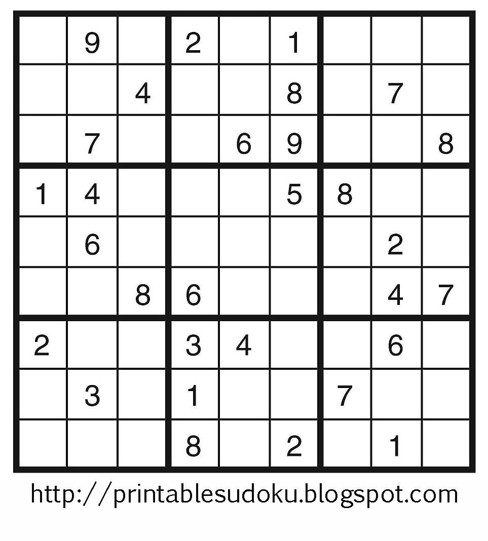 Printable Sudoku - Free Printable Sudoku