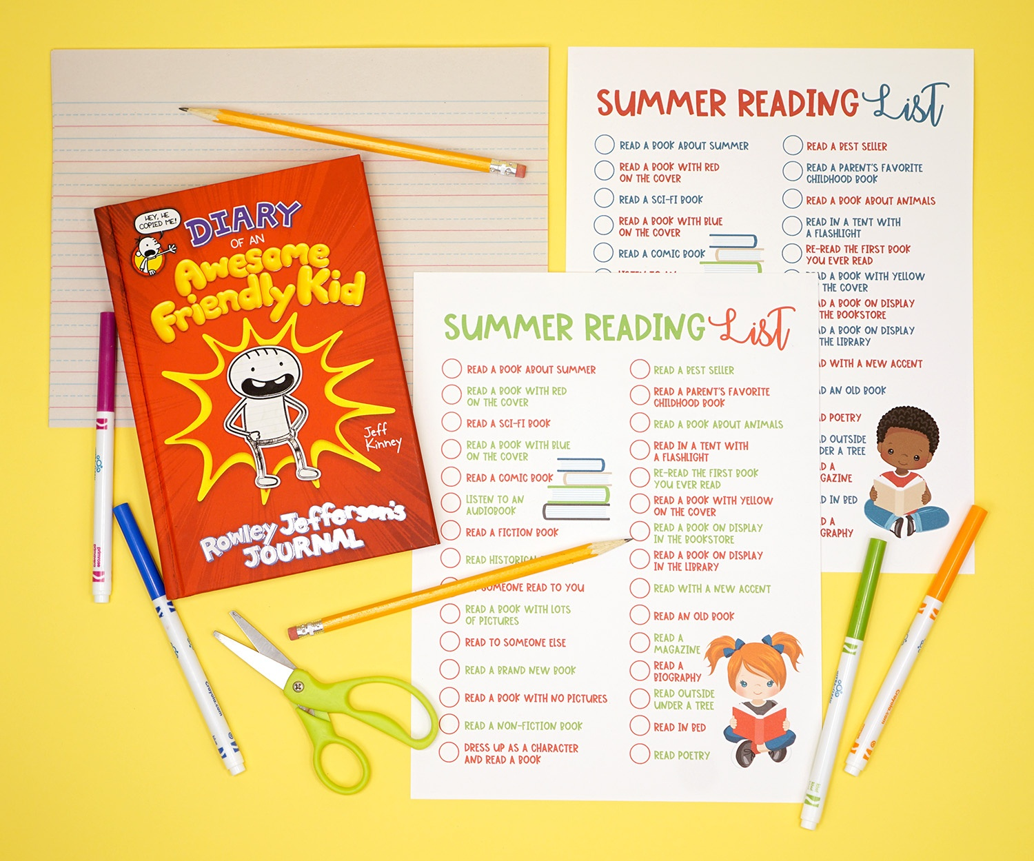 Printable Summer Reading Challenge List For Kids - Happiness Is Homemade - Free Printable Personalized Children's Books