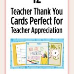 Printable Teacher Thank You Cards For Teacher Appreciation   Free Printable Teacher Appreciation Cards To Color