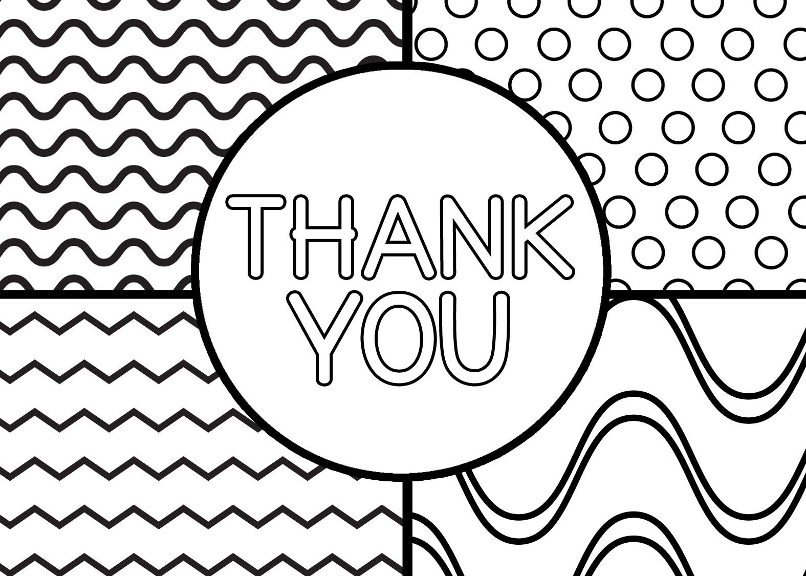 Printable Thank You Cards For Kids | Classroom Thank You Cards - Free Printable Thank You Cards Black And White