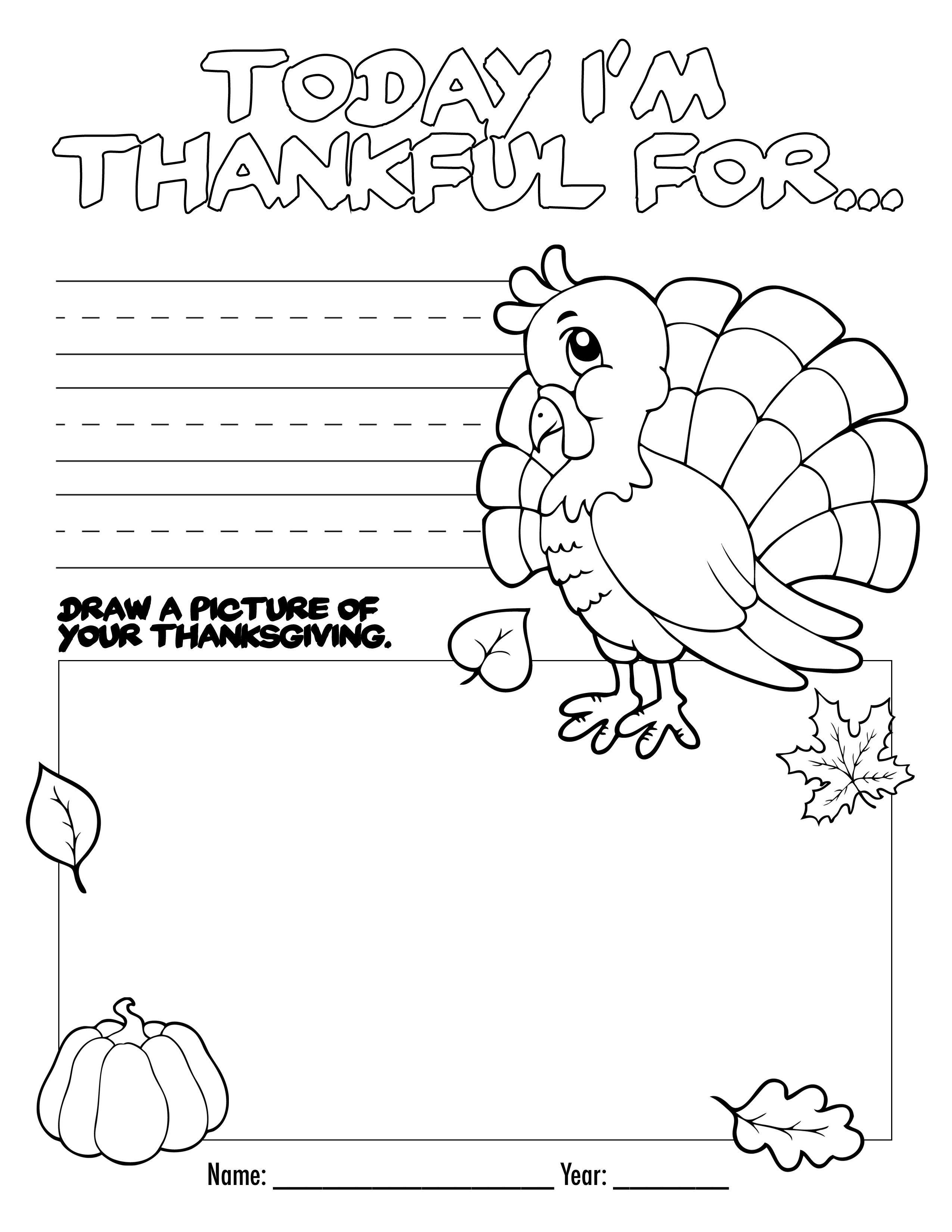 Printable Thanksgiving Crafts – Happy Easter & Thanksgiving 2018 - Free Printable Thanksgiving Activities For Preschoolers