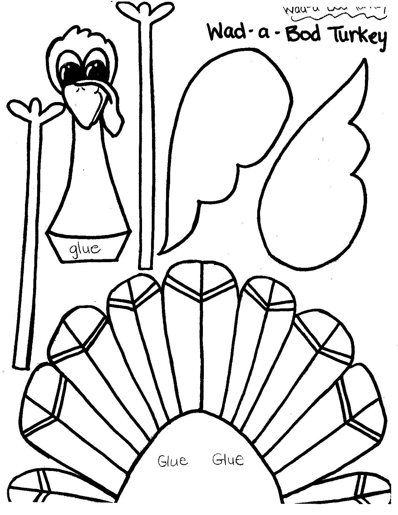Printable Thanksgiving Turkey Templates – Happy Easter - Free Printable Thanksgiving Turkey Template