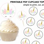 Printable Unicorn Cupcake Toppers   Perfect For A Simple Party   Free Printable Unicorn Cupcake Toppers