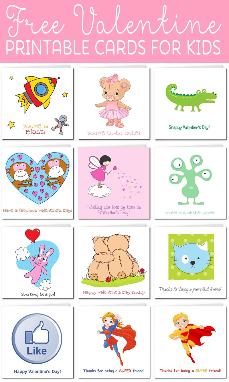 Printable Valentine Cards For Kids - Free Printable Picture Cards