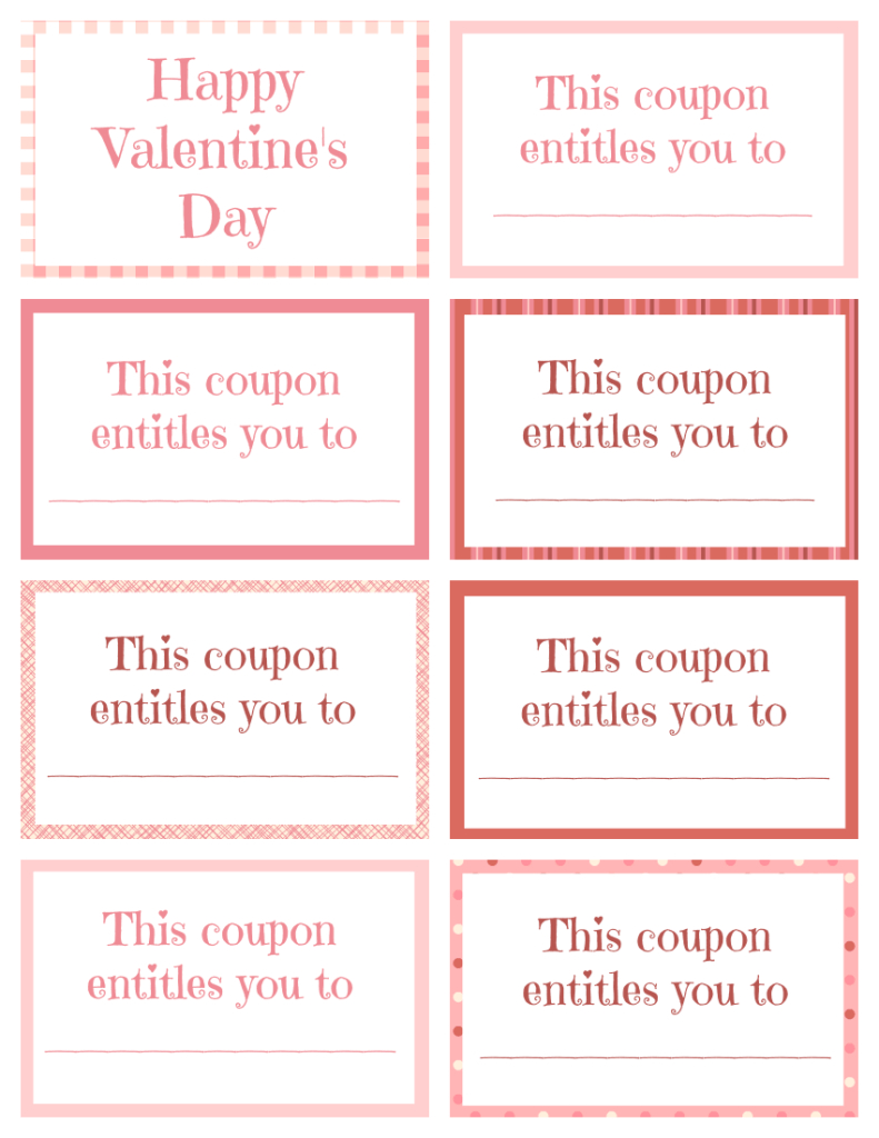 Printable Valentine Coupon Book Blank | Printables | Valentines For - Free Printable Coupons For Husband