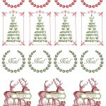 Printable   Vintage Christmas Stickers   Merkimiðar   Christmas   Free Printable Holiday Stickers