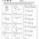 Printable Vocabulary Worksheet   Free Kindergarten English Worksheet   Free Printable English Reading Worksheets For Kindergarten