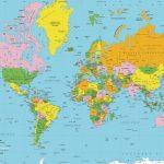 Printable World Map Free   Sitedesignco   Free Printable World Map