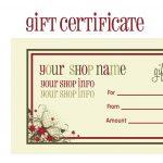 Printable+Christmas+Gift+Certificate+Template | Massage Certificate   Free Printable Tattoo Gift Certificates