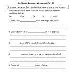 Pronouns Worksheets | Regular Pronouns Worksheets   Free Printable Pronoun Worksheets For 2Nd Grade