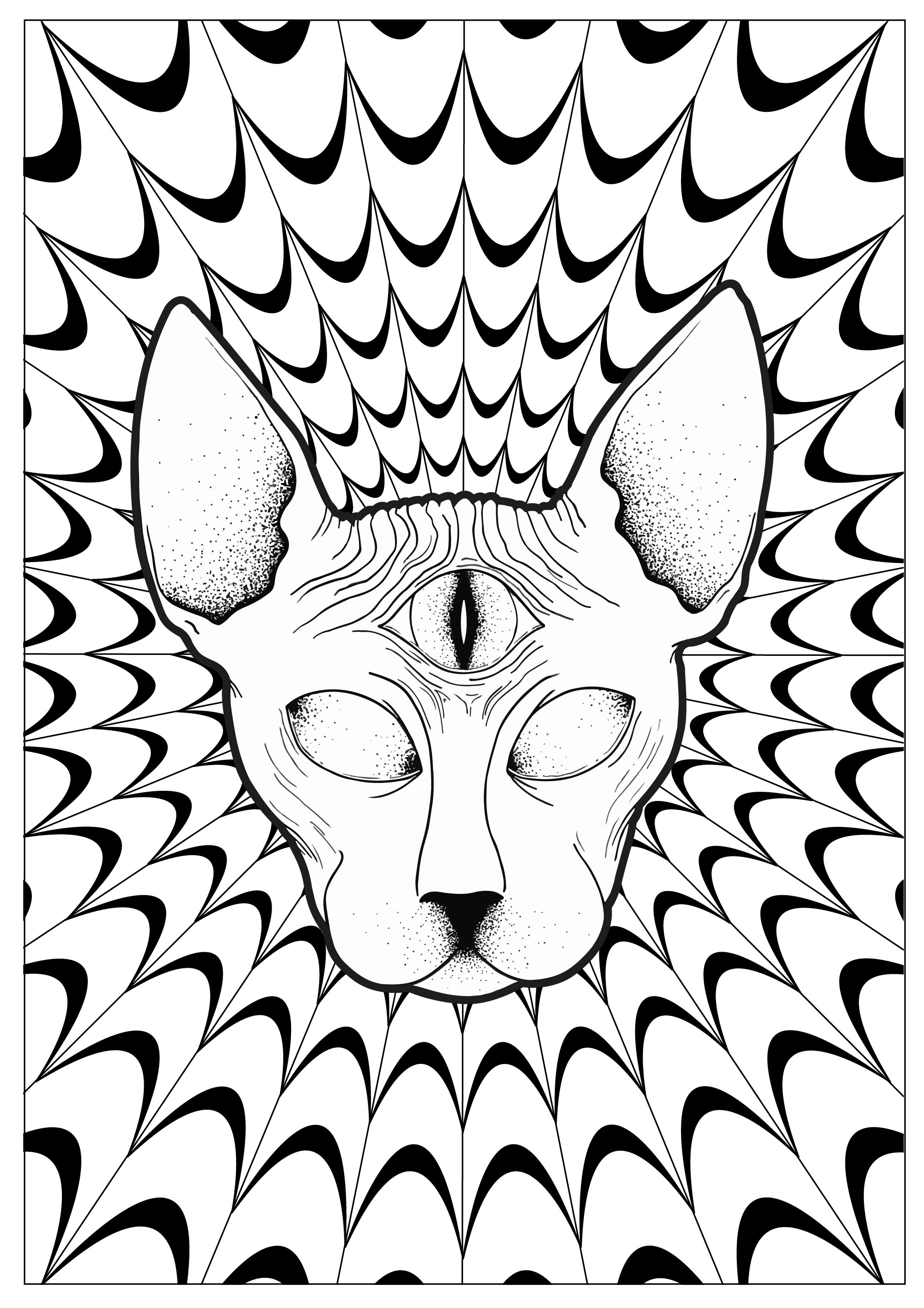 Psychedelic - Coloring Pages For Adults - Free Printable Trippy Coloring Pages