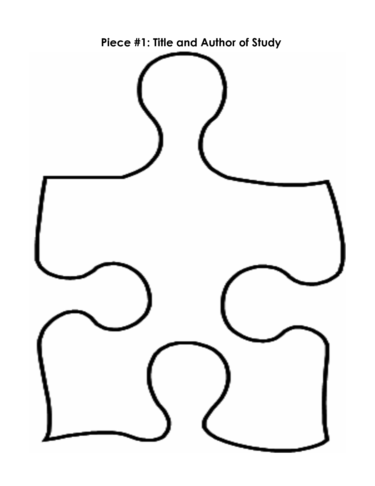 Puzzle Piece Mystery Book Template Pp | Printables | Puzzle Piece - Free Blank Printable Puzzle Pieces