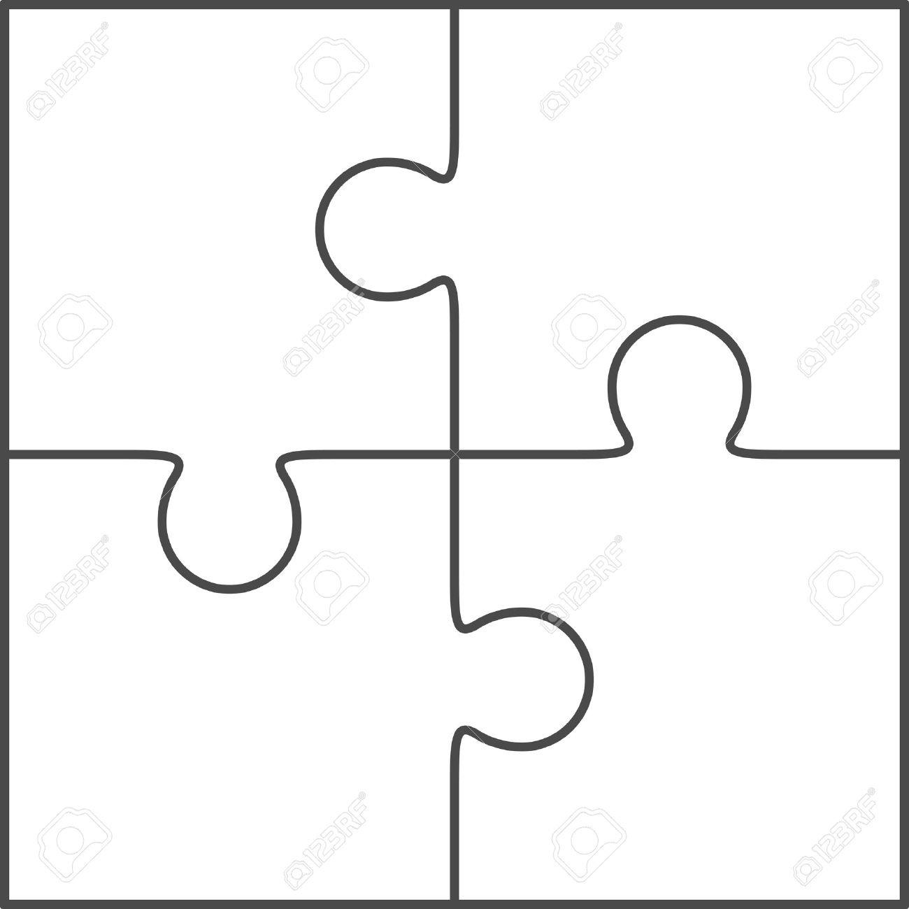 Puzzle Piece Outline | Free Download Best Puzzle Piece Outline On - Free Blank Printable Puzzle Pieces