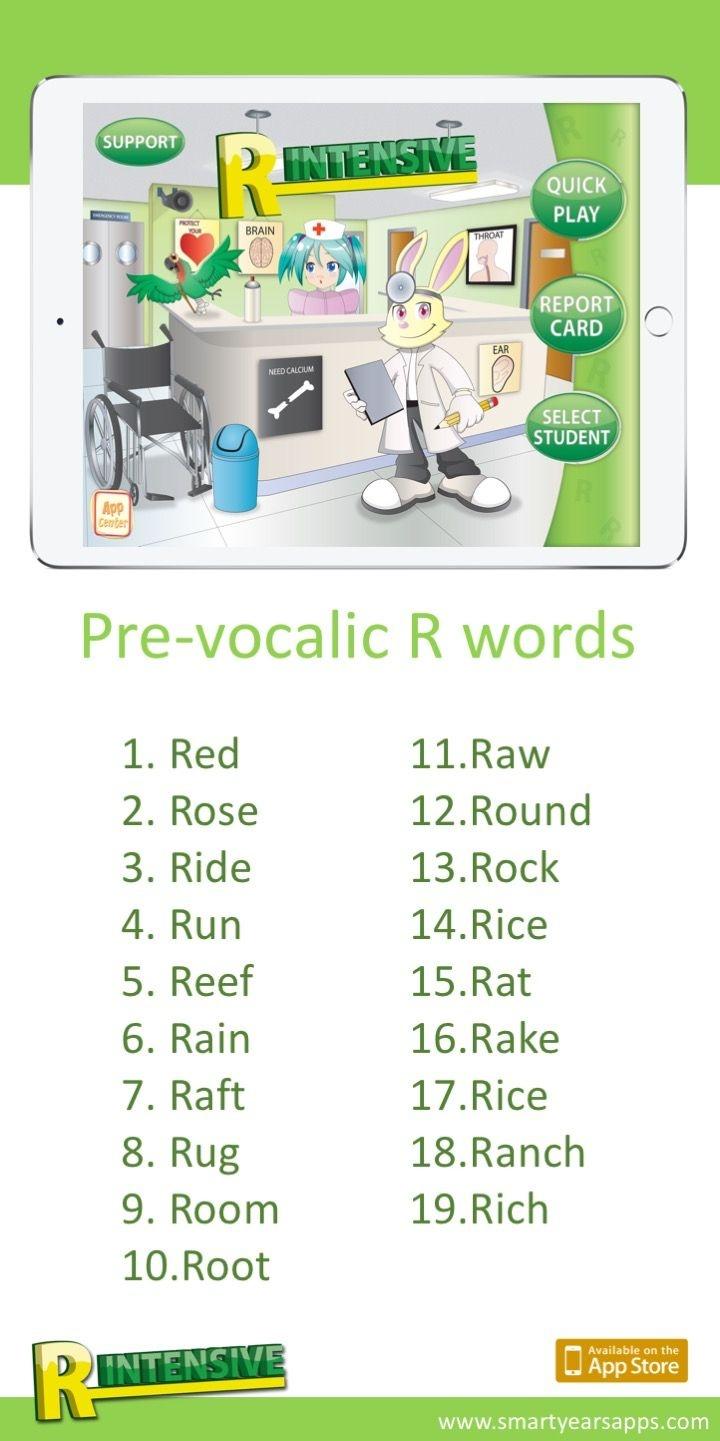 R Intensive Free Homework | Speech-Language Therapy Blog Posts | R - Free Printable Vocalic R Worksheets