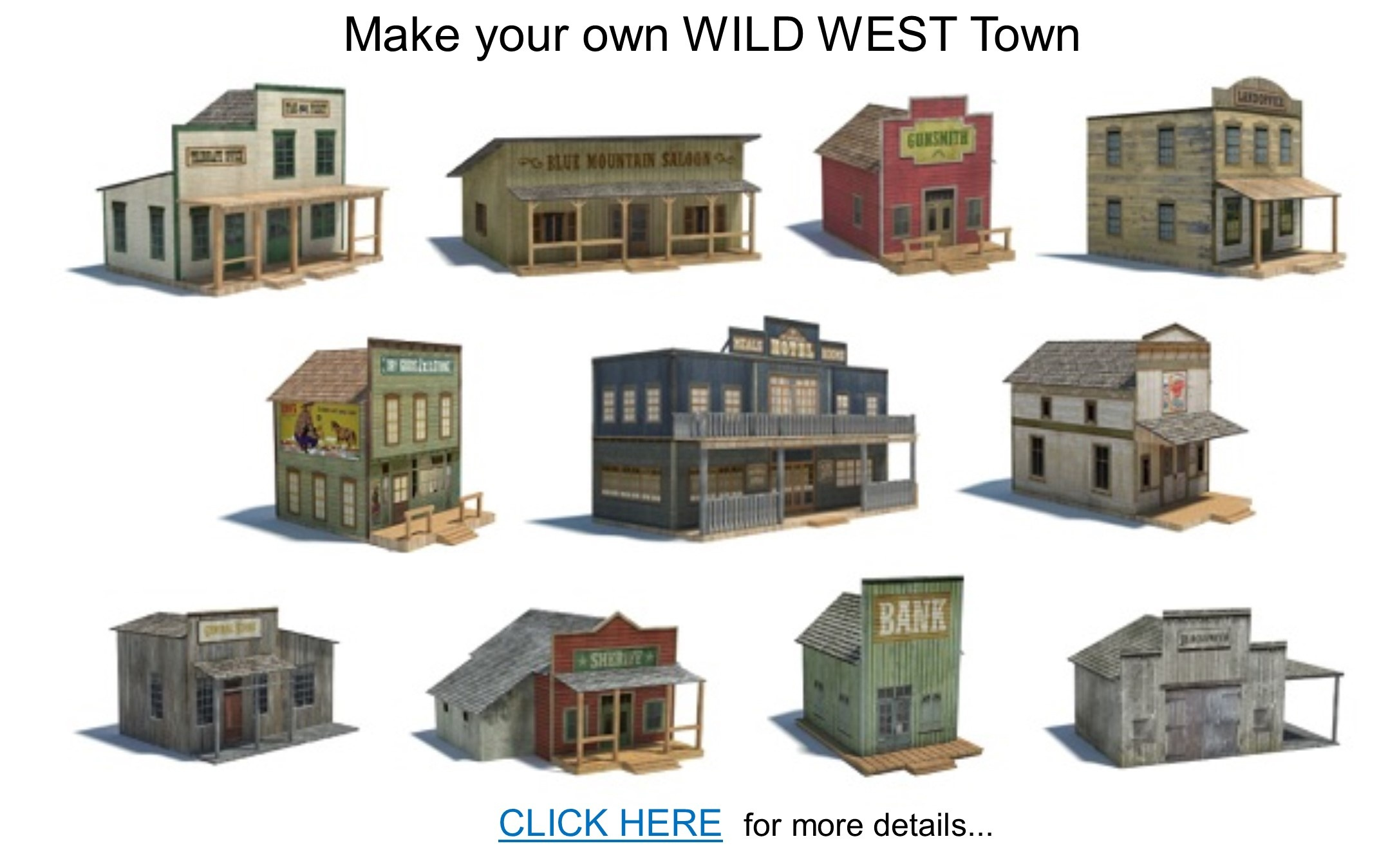 Railroad Model Buildings - Series 1 - Free Printable Model Railway Buildings