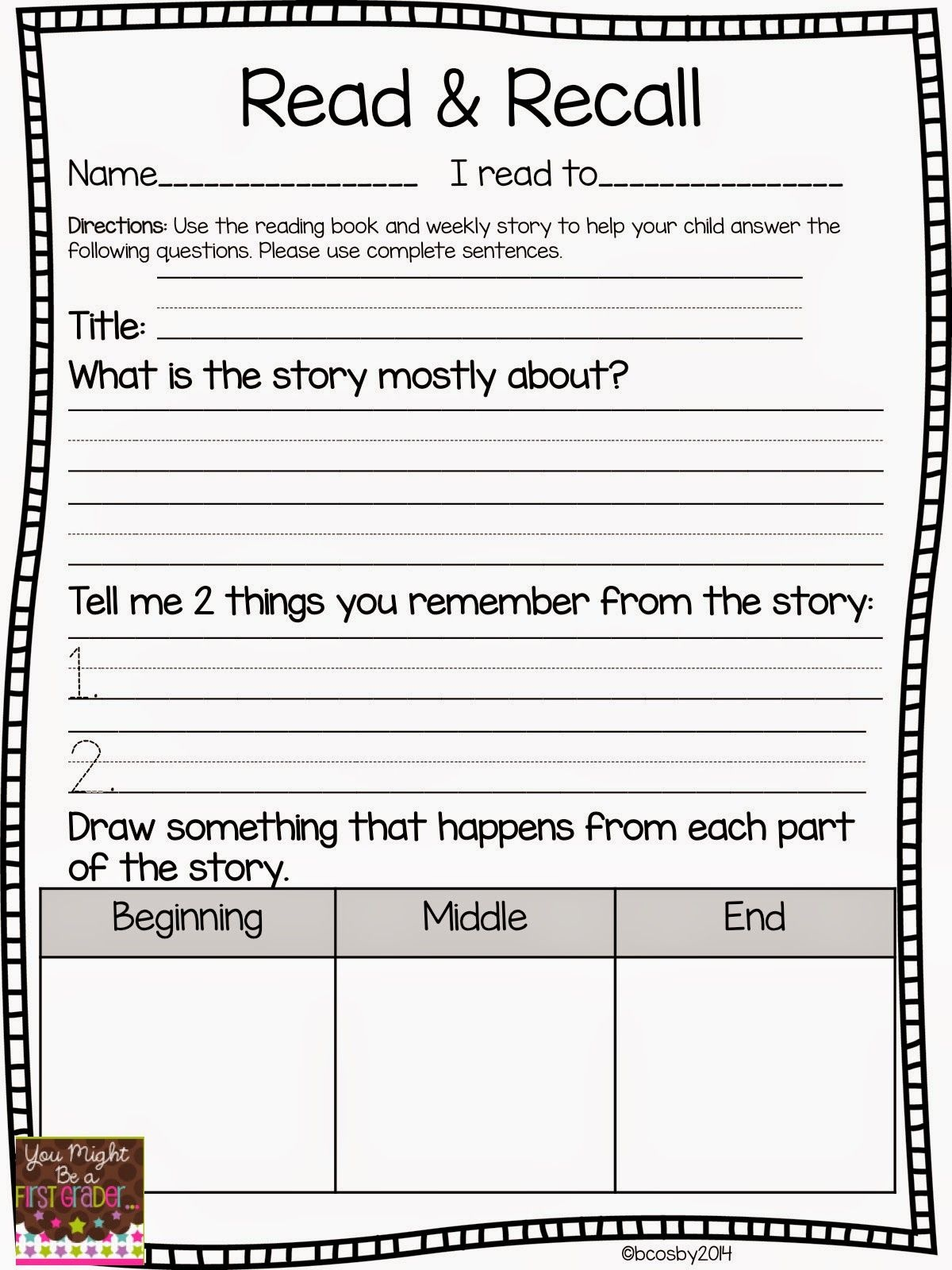 Reading Comprehension | Classroom Freebies! | First Grade Reading - Free Printable Story Books For Grade 2