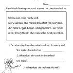 Reading Comprehension Test Worksheet Printable | Reading | Free   Free Printable Groundhog Day Reading Comprehension Worksheets