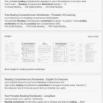 Reading Comprehension Worksheets For 1St Grade   Cramerforcongress   Free Printable 3Rd Grade Reading Worksheets