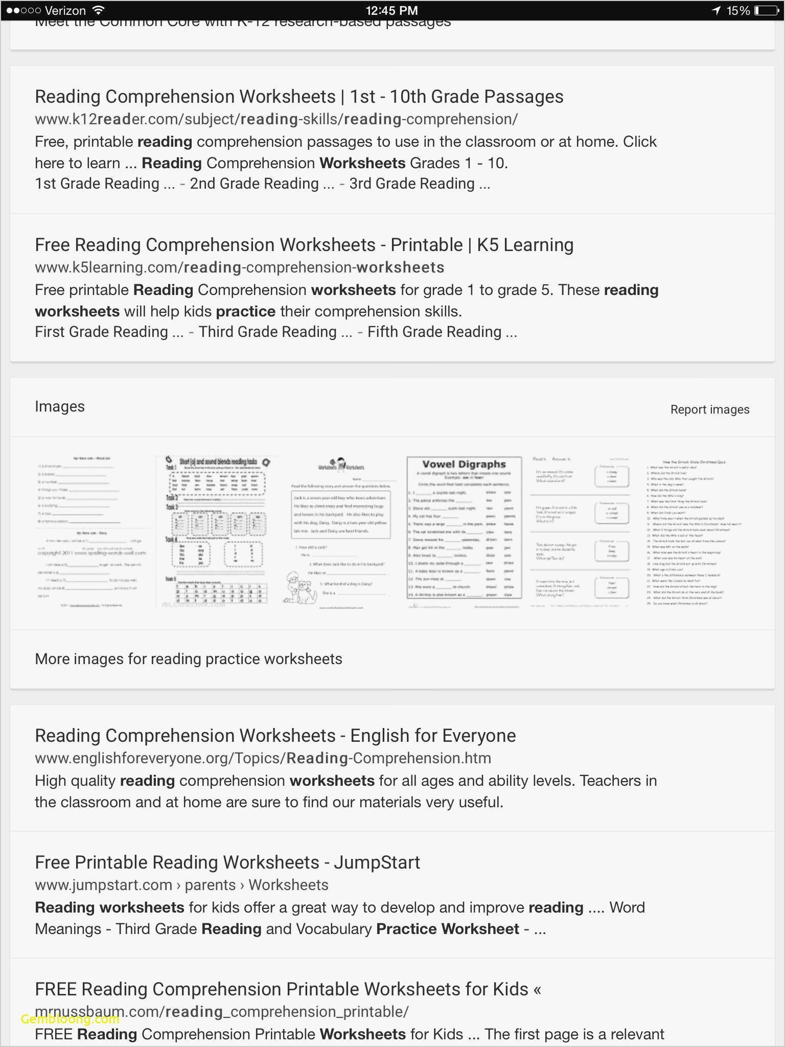 Reading Comprehension Worksheets For 1St Grade - Cramerforcongress - Free Printable 3Rd Grade Reading Worksheets