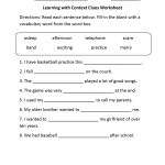 Reading Worksheets | Context Clues Worksheets   Free Printable 5Th Grade Context Clues Worksheets