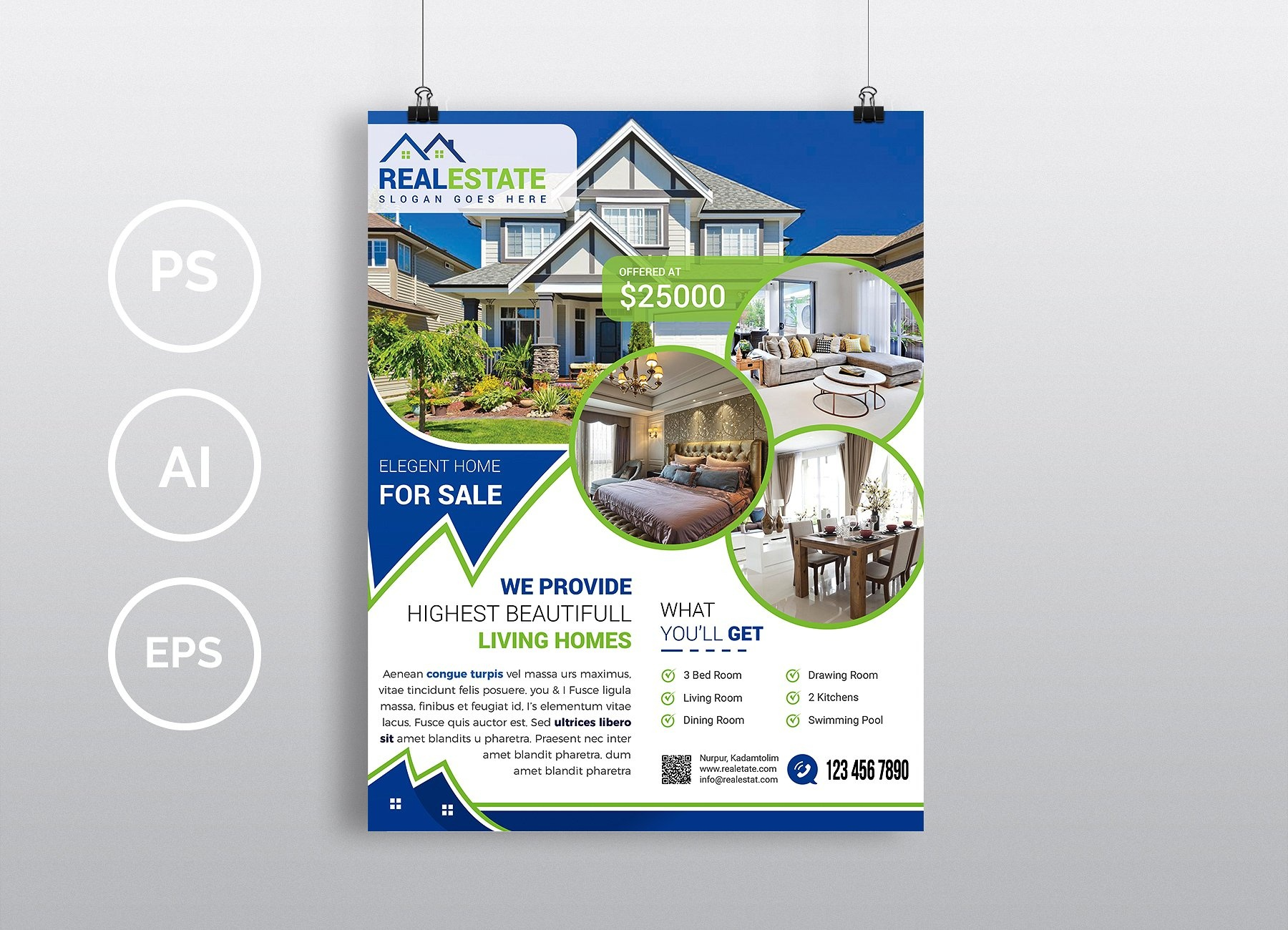 Real Estate - Psd Photoshop Flyer Template - Free Psd Flyer - Free Printable Real Estate Flyer Templates