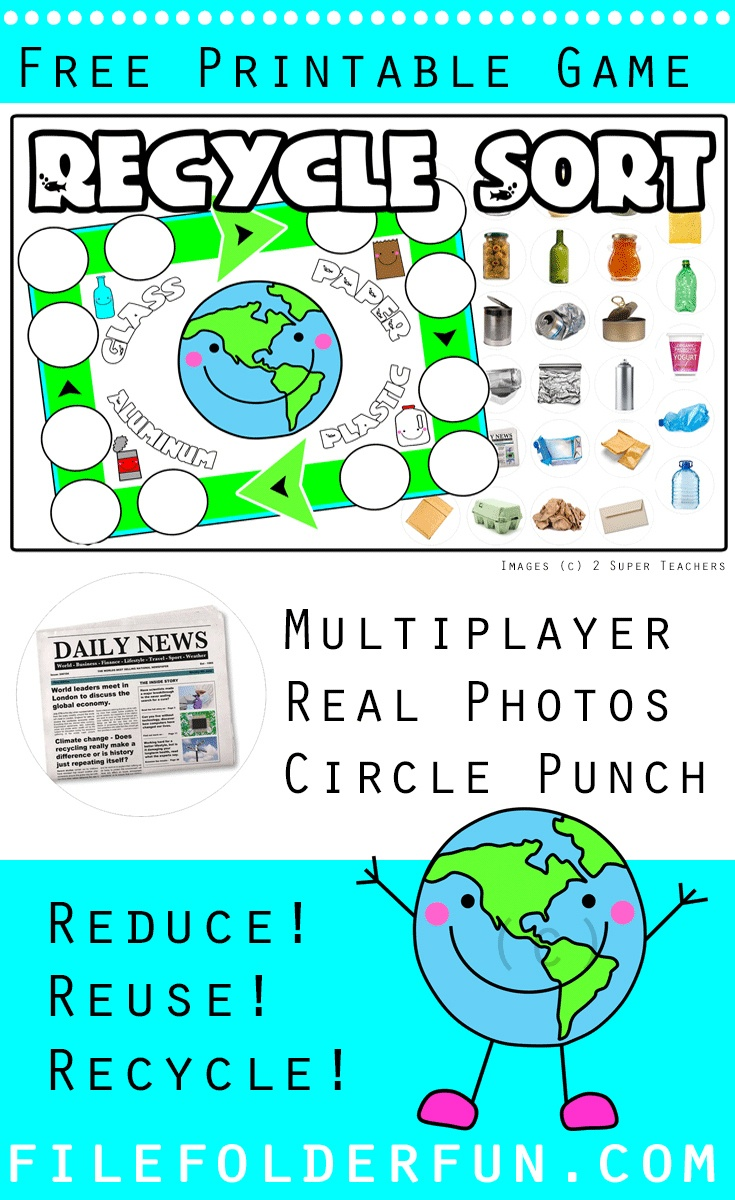 Recycle File Folder Game - The Crafty Classroom - Free Printable - Free Printable Fall File Folder Games