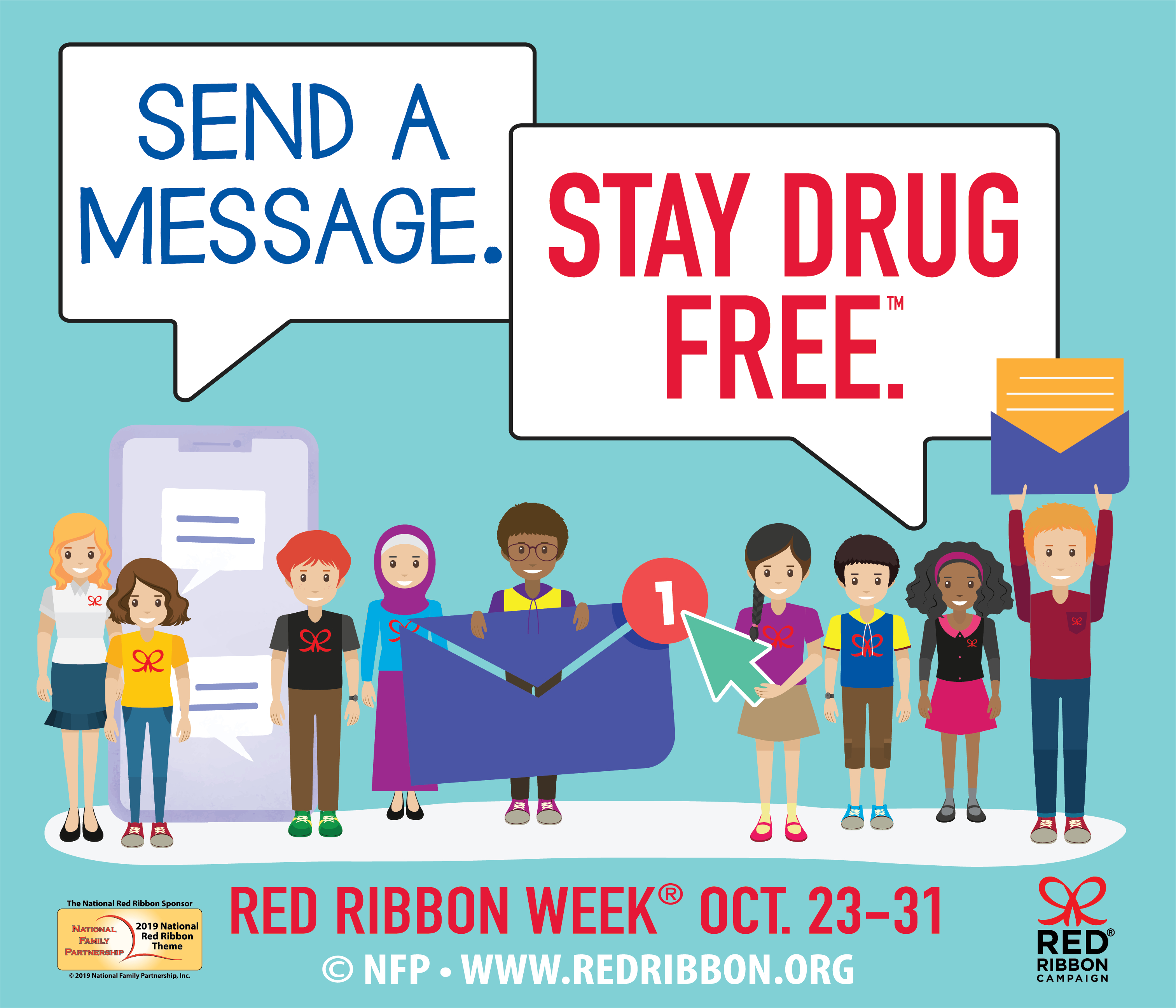Red Ribbon Campaign: Sign The Red Ribbon Pledge - Free Printable Drug Free Pledge Cards