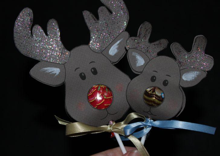 Free Printable Reindeer Lollipop Template