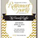 Retirement Party Invitation Template Microsoft   Retirment Party   Free Printable Retirement Party Flyers