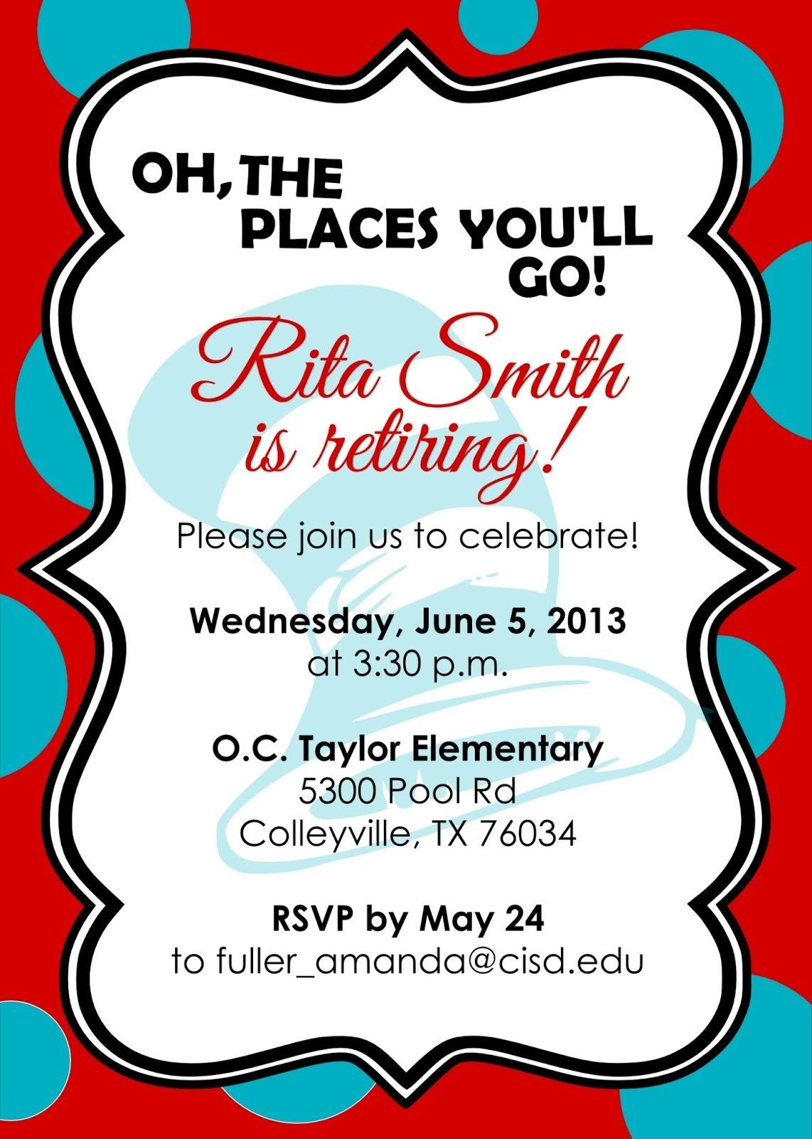 Retirement Party Invitations Free Templates | Fun Stuff | Retirement - Free Printable Retirement Party Flyers