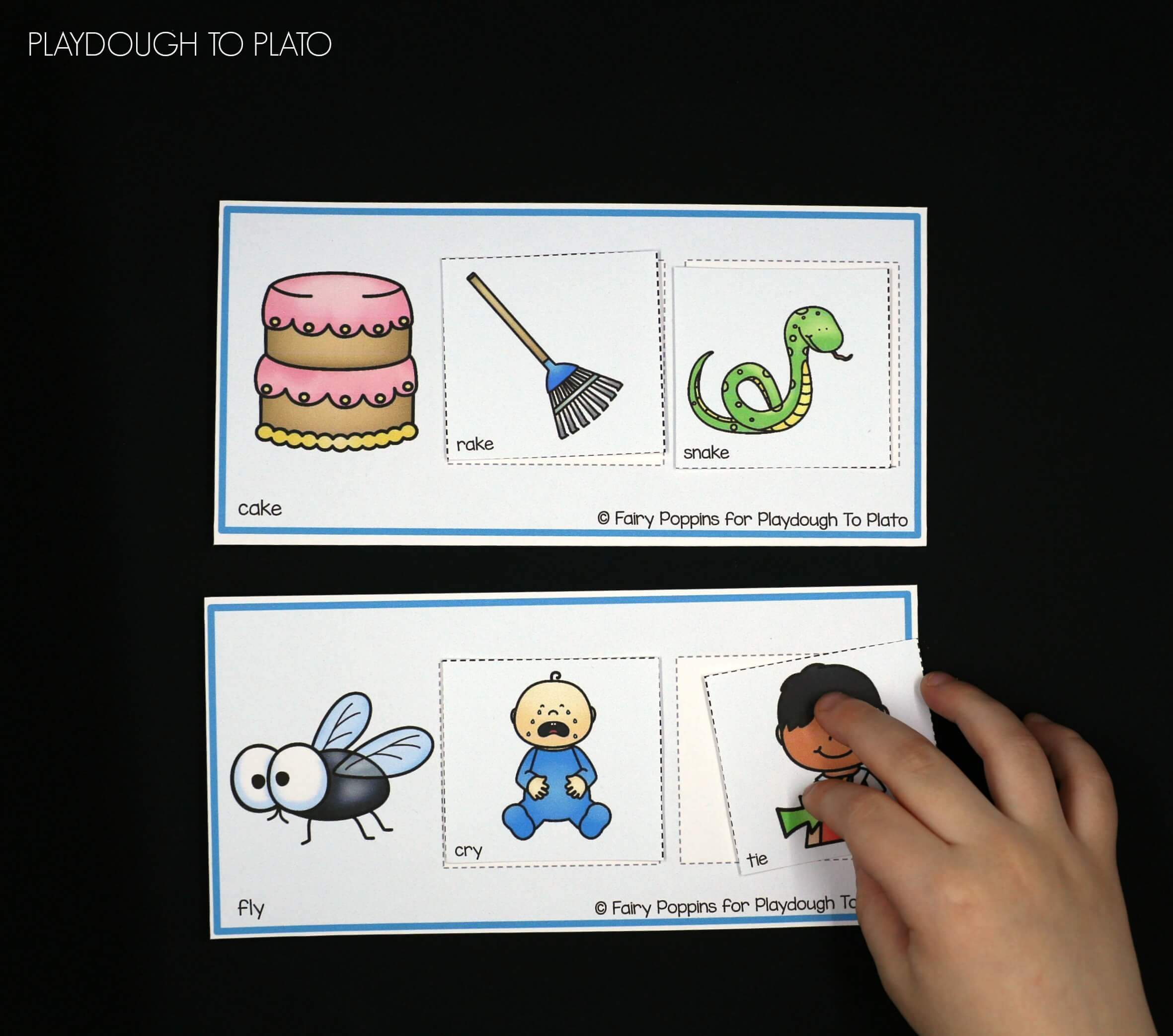 Rhyming Picture Mats - Playdough To Plato - Free Printable Rhyming Activities For Kindergarten