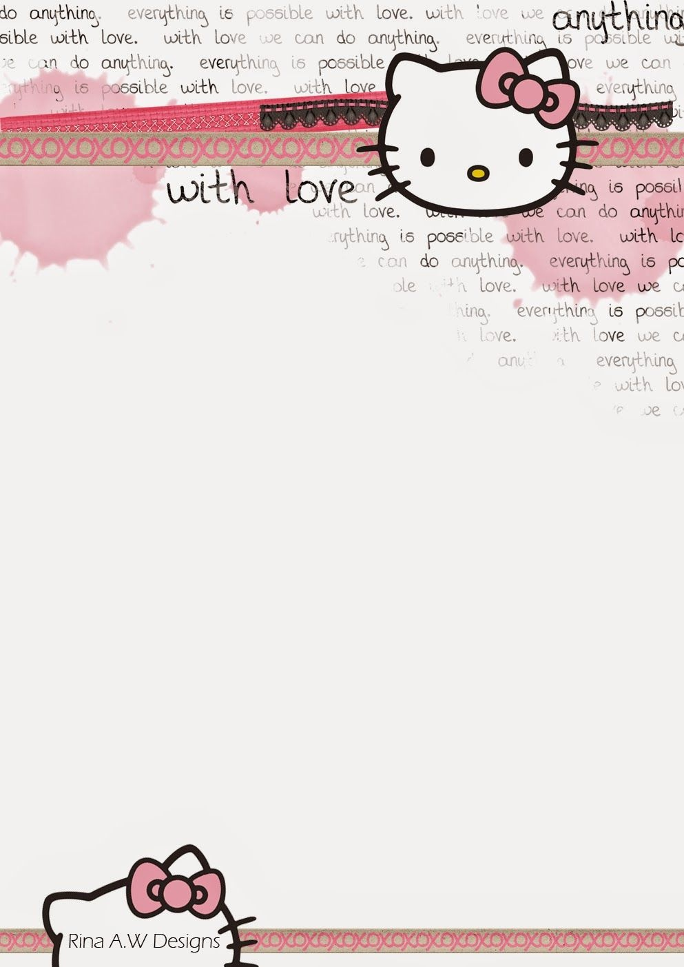 Rina Loves: Hello Kitty Free Printables | Crafty Things | Sobres De - Free Printable Hello Kitty Stationery