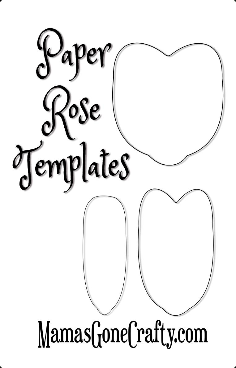 Rose Petal Printable Templates | Paper Crafts | Paper Flowers Diy - 5 Petal Flower Template Free Printable