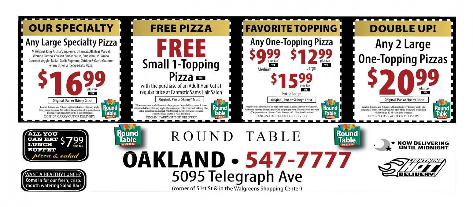Round Table Pizza Codes | Deoverslag - Free Printable Round Table Pizza Coupons