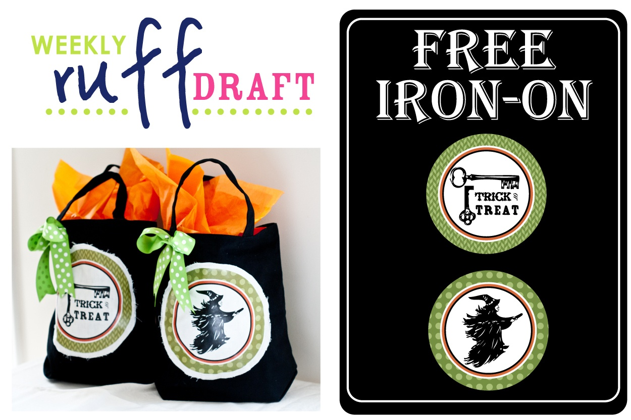 Ruff Draft: Free Halloween Iron-On For Trick Or Treat Bags - Anders - Free Printable Halloween Iron Ons
