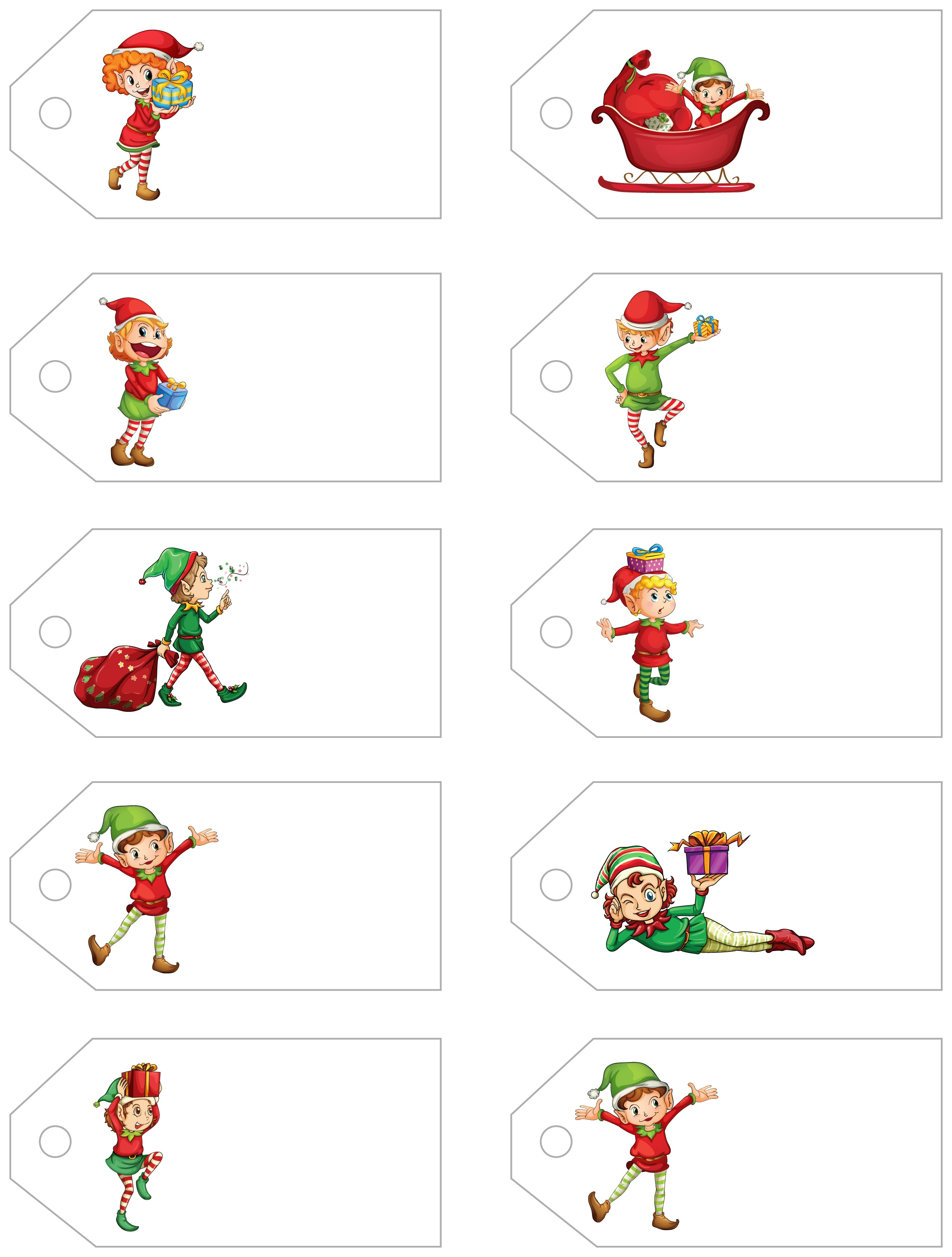 Santa's Little Gift To You! Free Printable Gift Tags And Labels - Free Printable Holiday Gift Labels