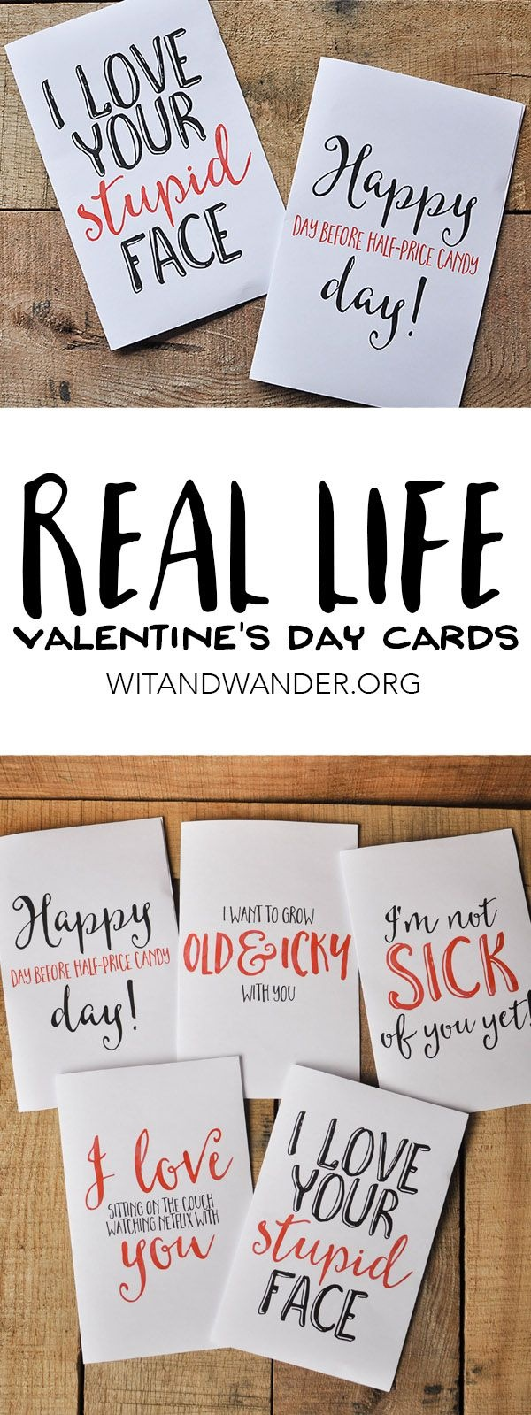 Sarcastic Valentine's Day Cards - Free Printables | Crafting Chicks - Free Valentine Printable Cards For Husband