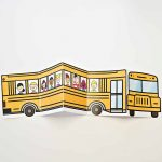 School Bus Of Friends Free Printable   Crafts   Templates Printable   Free Printable School Bus Template
