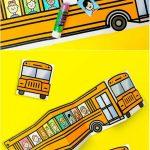 School Bus Of Friends Free Printable   Easy Crafts   School Bus   Free Printable School Bus Template