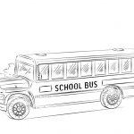 School Bus Printable Coloring Page Free   Coloring Pages   Free Printable School Bus Template