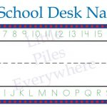 School Desk Tags Back+To+School+Name+Boards | Tag Universe   Free Printable Desk Name Plates For Students