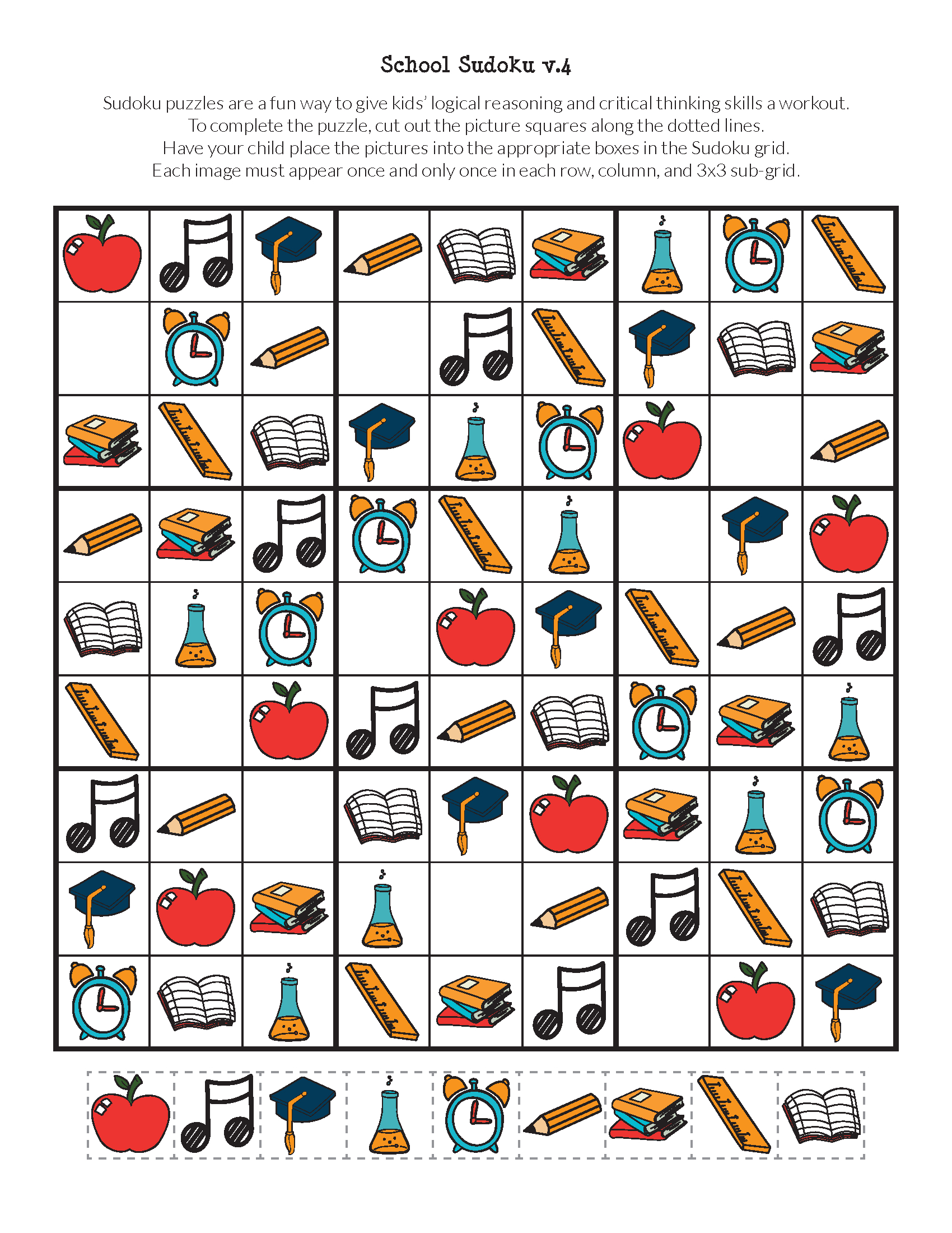 School Sudoku Puzzles {Free Printables} | Sudoku | Sudoku Puzzles - Free Printable Critical Thinking Puzzles