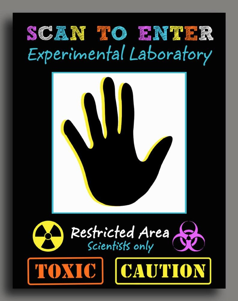 Science Scan To Enter Sign Printable Super Science | Etsy - Scan To Enter Sign Printable Free