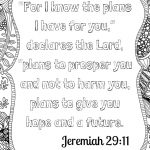 Scripture Meditation: Free Adult Coloring Printable   Family Style   Jeremiah 29 11 Free Printable