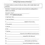 Sentences Worksheets | Simple Sentences Worksheets   6Th Grade Writing Worksheets Printable Free
