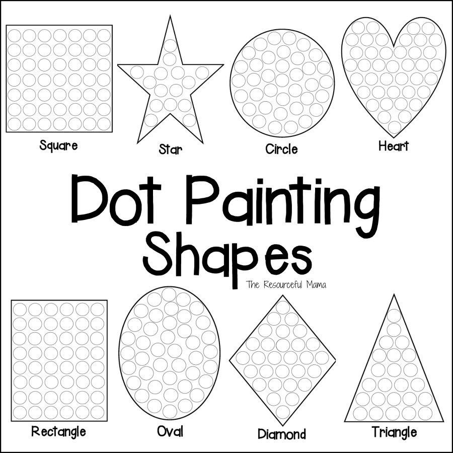 Shapes Dot Painting {Free Printable} | Anger Management | Dot - Free Printable Fine Motor Skills Worksheets