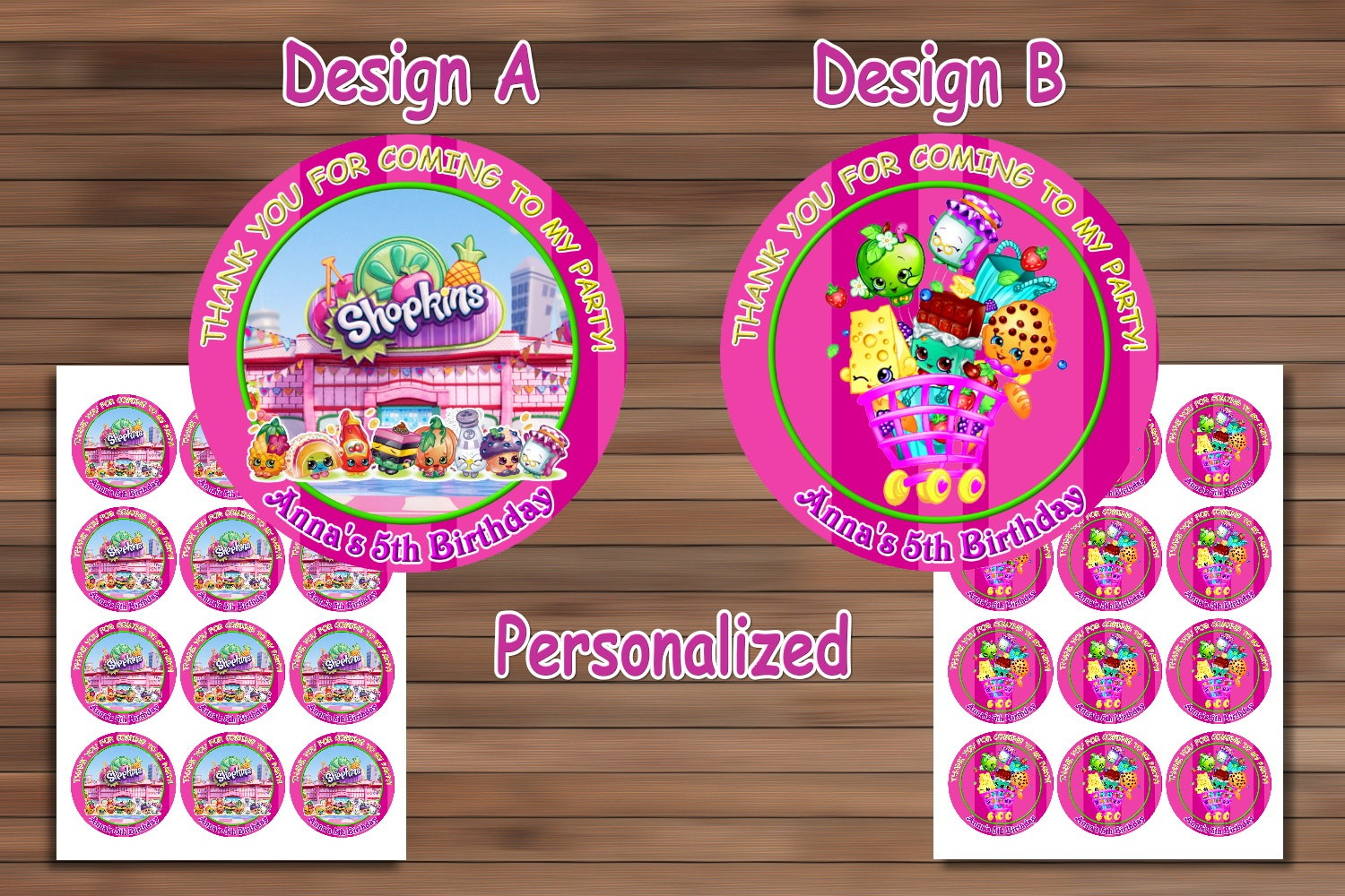 Shopkins Birthday Party, Shopkins Birthdaymagianrainbow On Zibbet - Free Printable Shopkins Thank You Cards