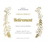 Sideside Gold   Free Retirement & Farewell Party Invitation   Free Printable Retirement Party Flyers