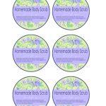 Simple Scrubs Printable Labels | No Fuss Natural   Free Printable Sugar Scrub Labels